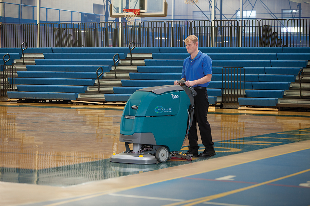 t300 / t300e wide cleaning walk behind scrubbers | tennant company